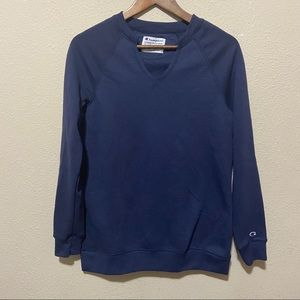 Champion Powerblend Fleece Tunic Sweater Navy